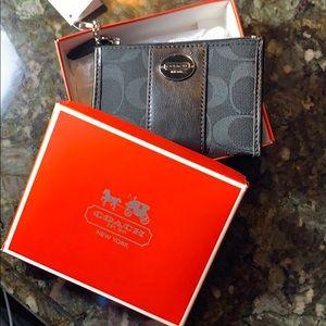Black Coach Small Wallet
